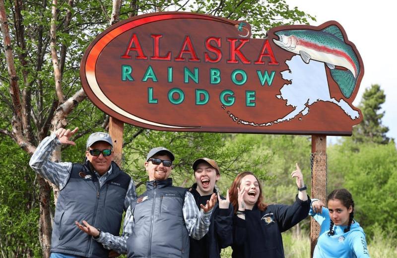 Family at Alaska Rainbow Lodge.