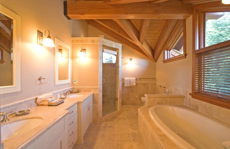 Guest bathroom at ResortQuest Whistler.