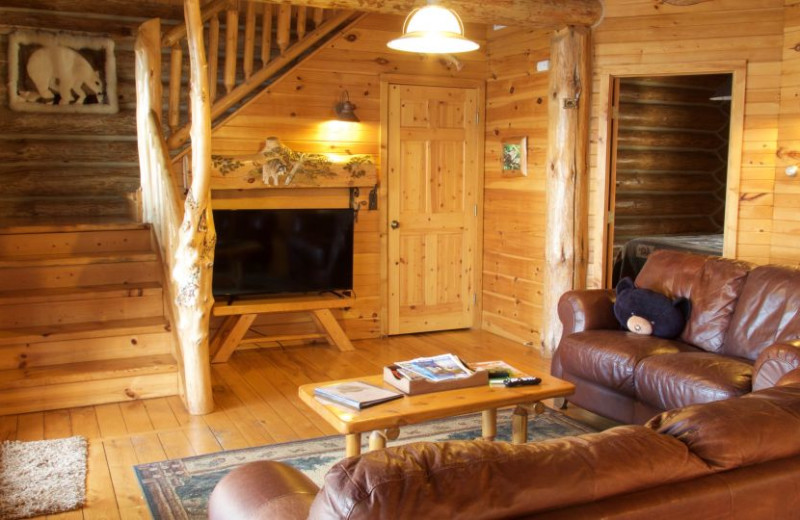 Guest living room at Sleeping Bear Resort.