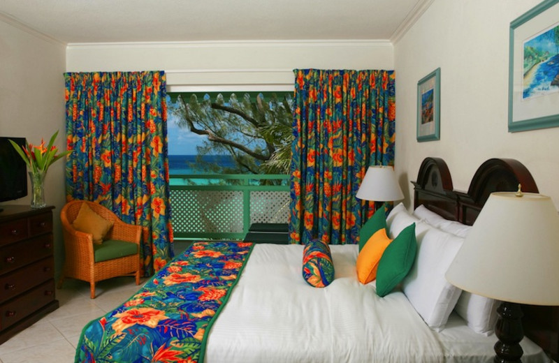 Guest room at Coral Mist Beach Hotel.