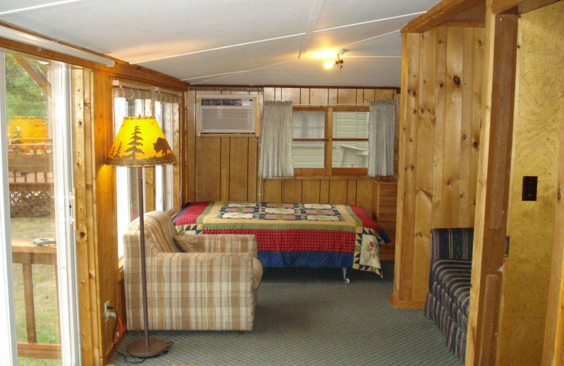 Cabin interior at Moore Springs Resort.