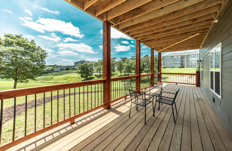 Lodge deck at Thousand Hills Golf Resort.