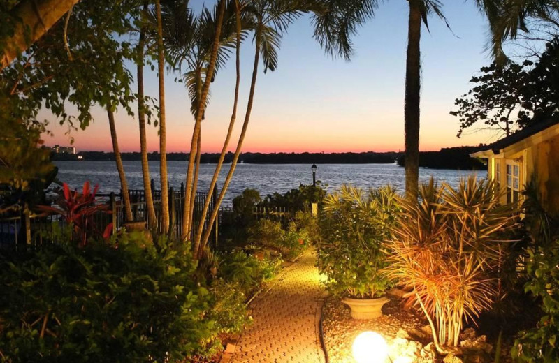 Sunset at Turtle Beach Resort.