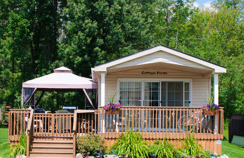 Cottage exterior at Great Blue Resorts- Woodland Estate Resort.