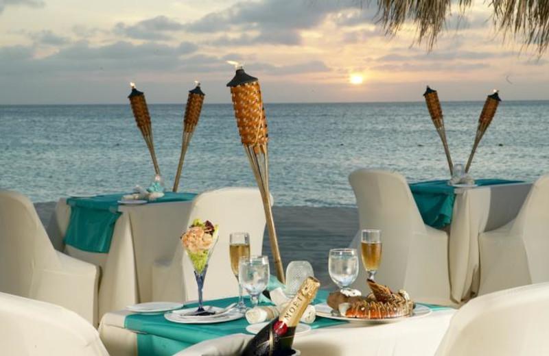 Dining at Amsterdam Manor Beach Resort.