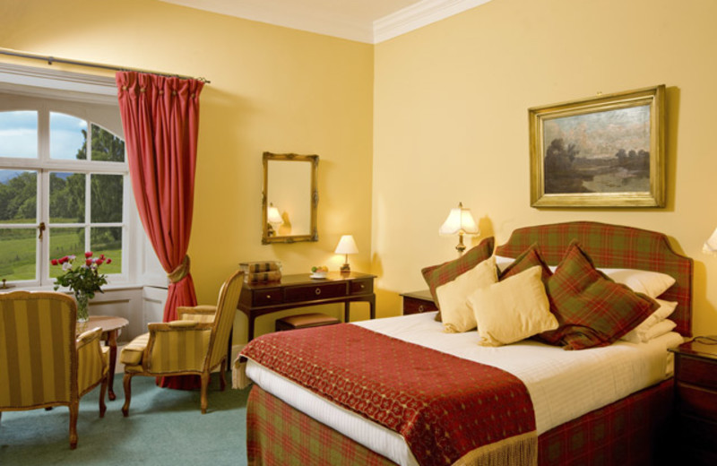 Guest room at Coul House Hotel.