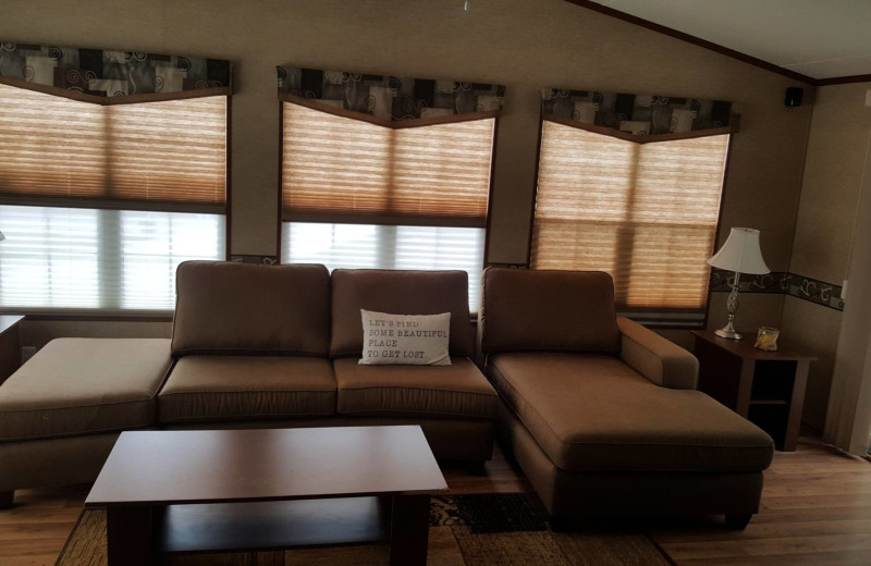 Cottage living room at Great Blue Resorts- McCreary's Beach Resort.