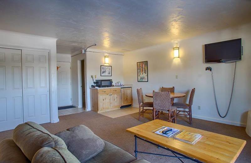 Guest room at Grand Targhee Resort.