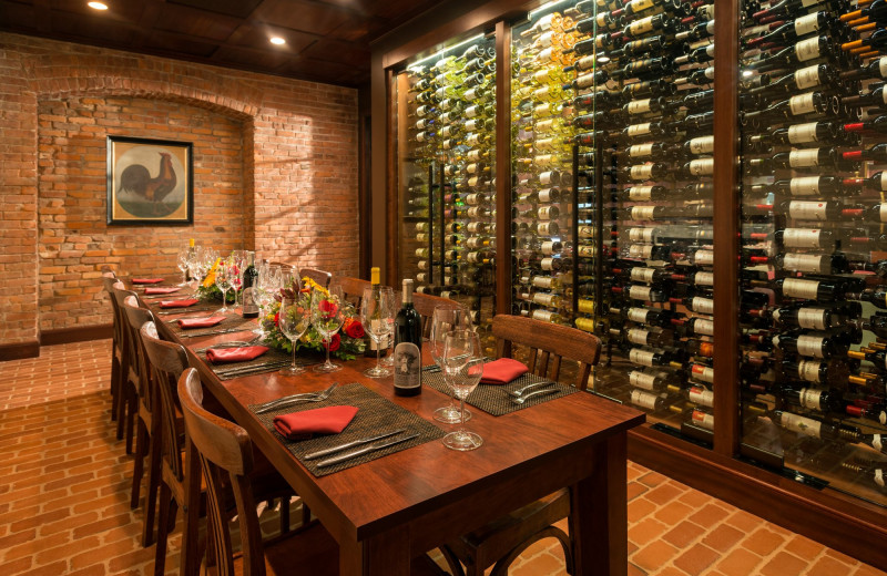 Wine room at The Otesaga Resort Hotel.