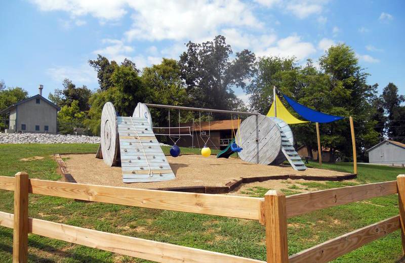 Children's playground at Buzzard Rock Resort and Marina.