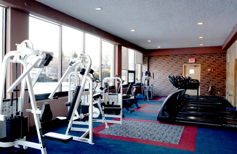 The fitness room at Honor's Haven Retreat & Conference.
