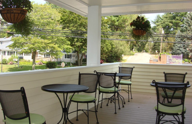 Patio at Grand Hotel of Ogunquit.