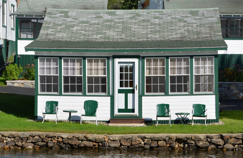 Exterior view of Channel Waterfront Cottages.
