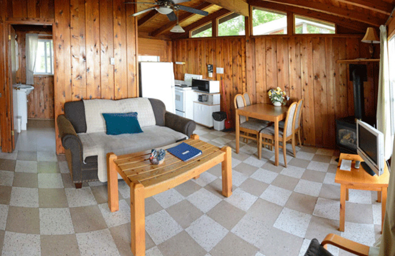 Cabin interior at Sunnylea.