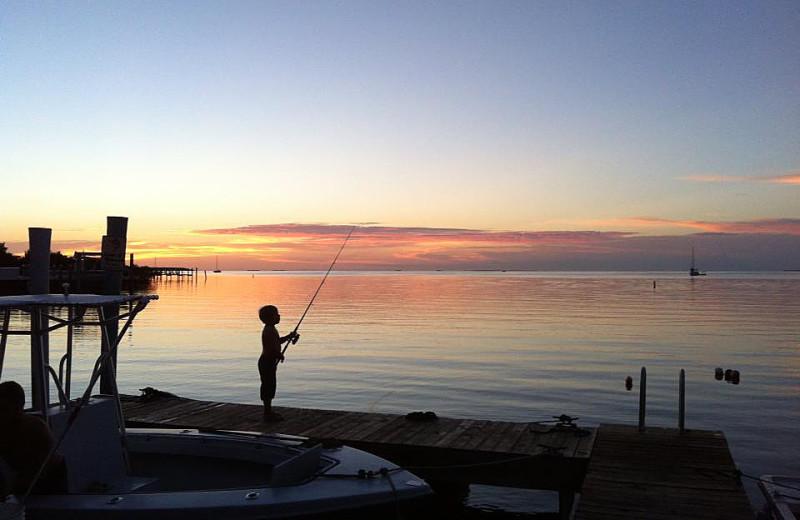 Fishing at La Jolla Resort Hotel.