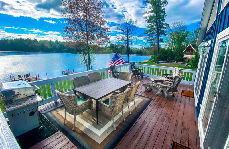 Rental deck at Northern Living - Luxurious Vacation Rentals.
