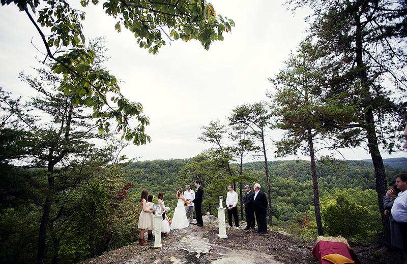 Wedding at Pinecrest Camp Lodge.