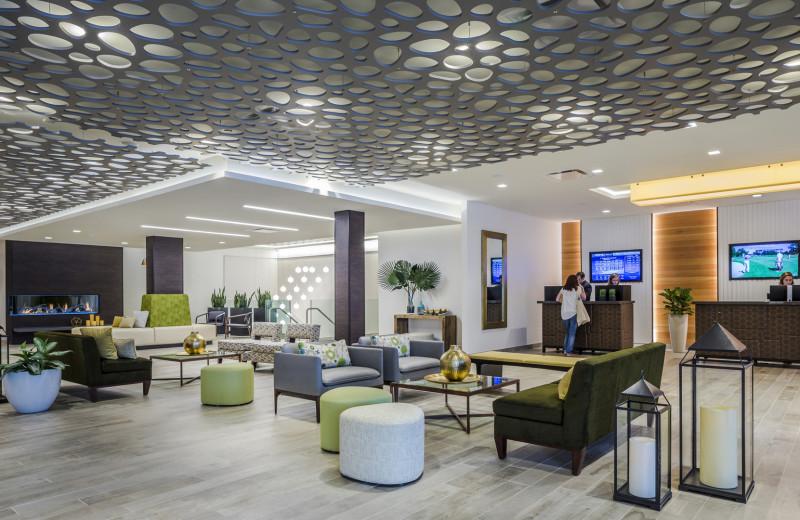 Lobby at The Ridge Hotel.