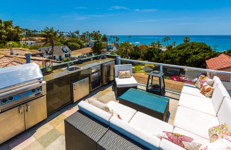 Vacation rental patio at Seabreeze Vacation Rentals, LLC.