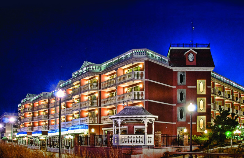 Exterior view of Boardwalk Plaza Hotel.