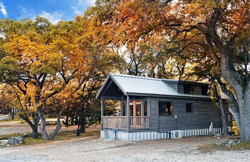 Cabins at Yogi Bear's Jellystone Park Hill Country.