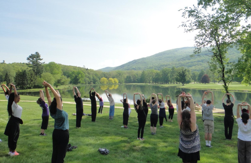 Yoga at Honor's Haven Retreat & Conference.