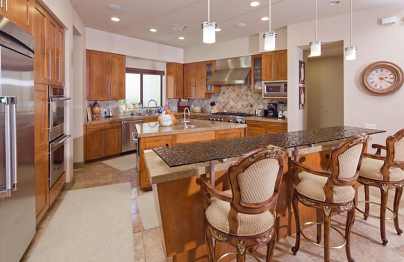 Vacation rental kitchen at Greater Palm Springs Realty.
