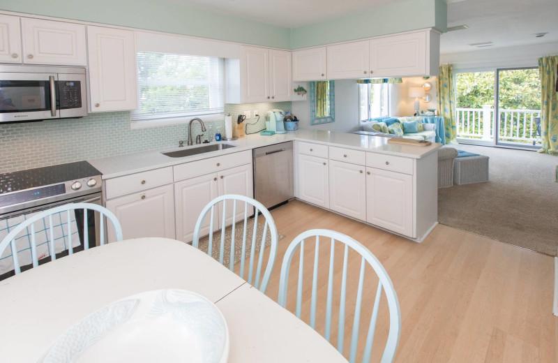 Rental kitchen at Atkinson Realty.