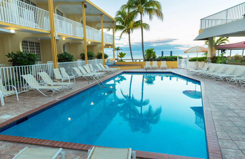 Outdoor pool at Hotel Villa Confresi.