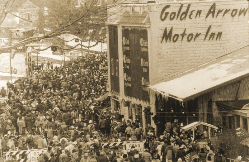 Golden Arrow during the 1980 Winter Olympic Games in Lake Placid