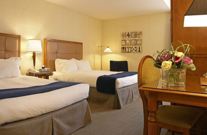 Guest room at Weber's Hotel.