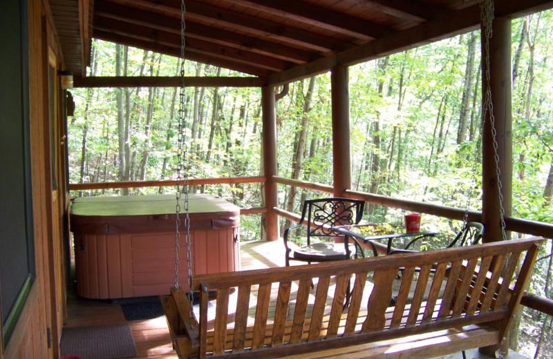 Cabin deck at Hocking Hills Cabins.