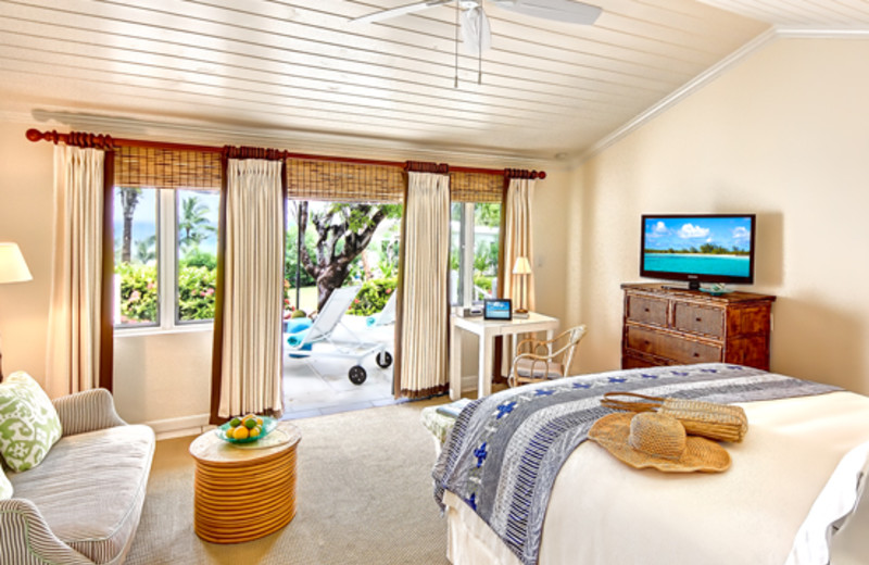 Guest bedroom at Dunmore Beach Club.