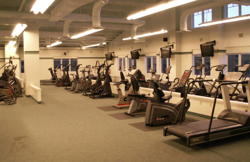 Fitness center at Point Lookout Resort.
