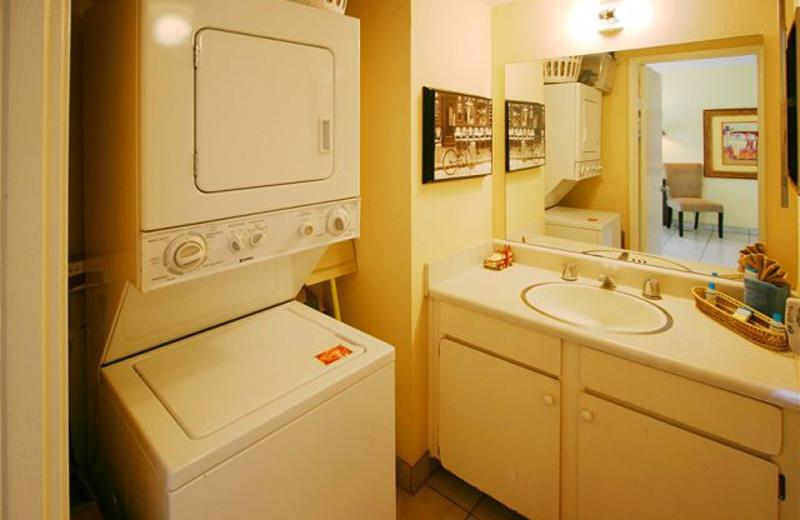 Vacation rental laundry room at Maui Vacation Rentals.
