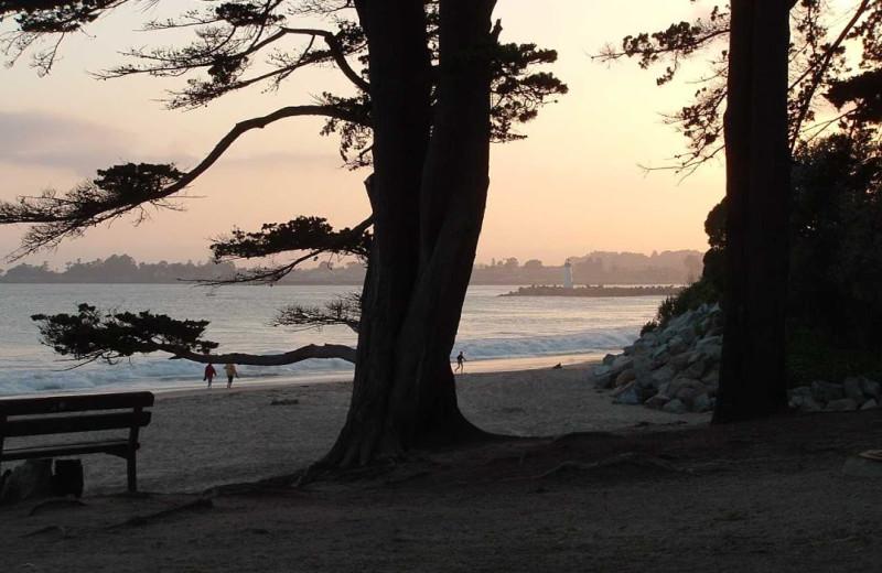 Beach view at Pelican Point Inn.