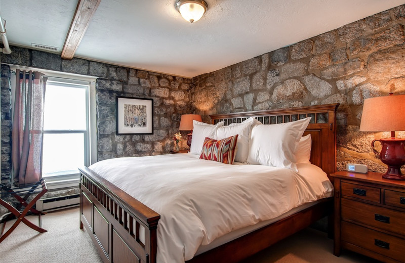 Private king room at Snowpine Lodge.