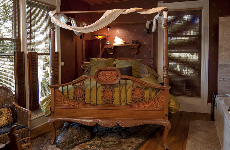Guest room at The Elephant Walk Bed and Breakfast.