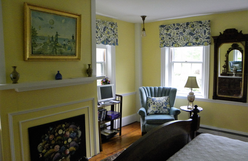 Guest room at Candleberry Inn.