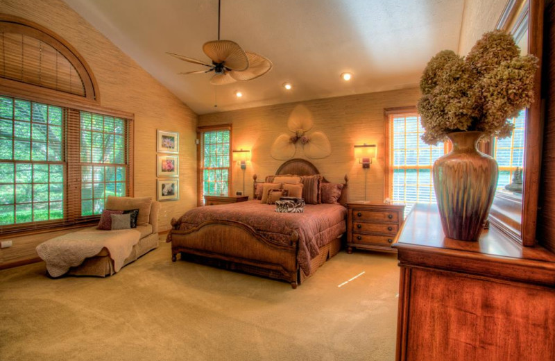 Rental bedroom at Yonder Luxury Vacation Rentals.
