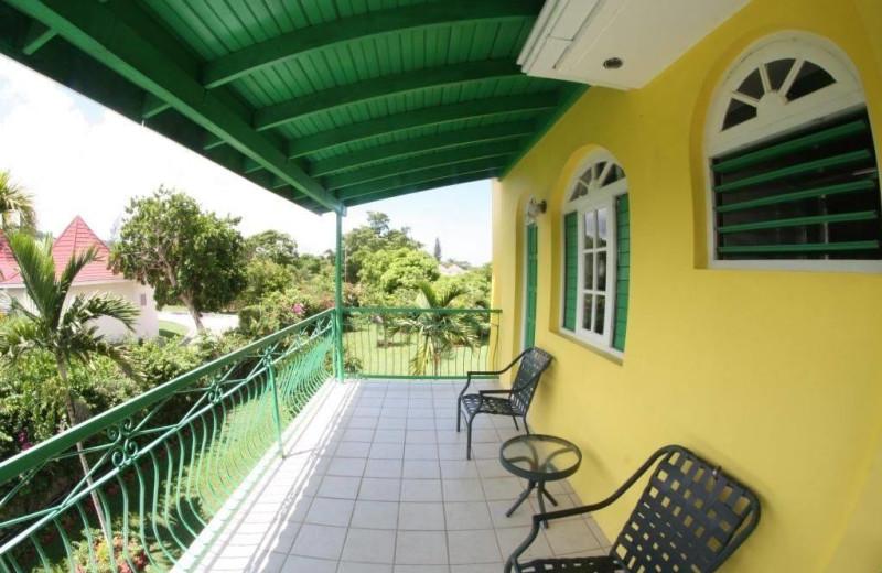 Porch at Villa Sonate.