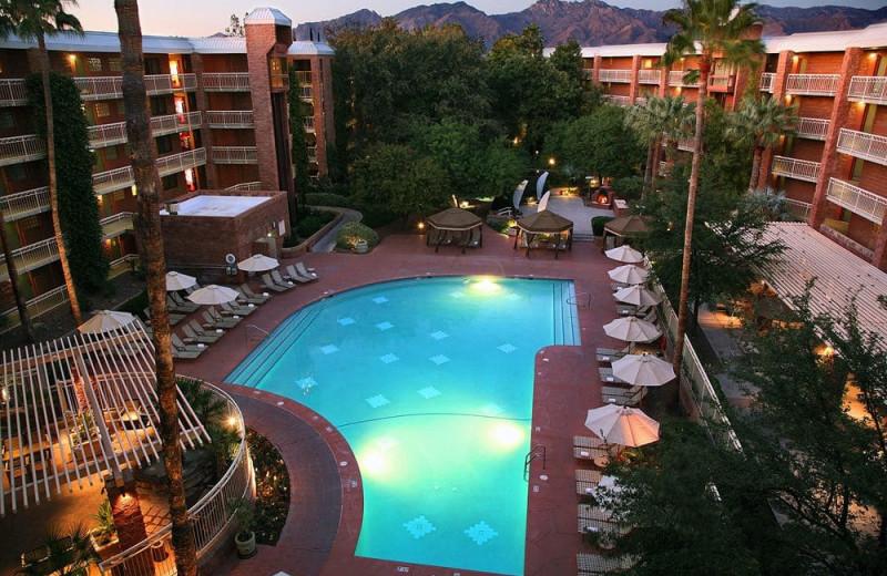 Outdoor pool at Radisson Suites Tucson.