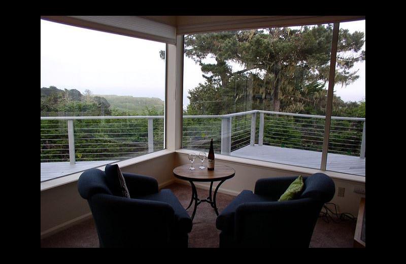 Rental deck at Irish Beach Rental Agency.
