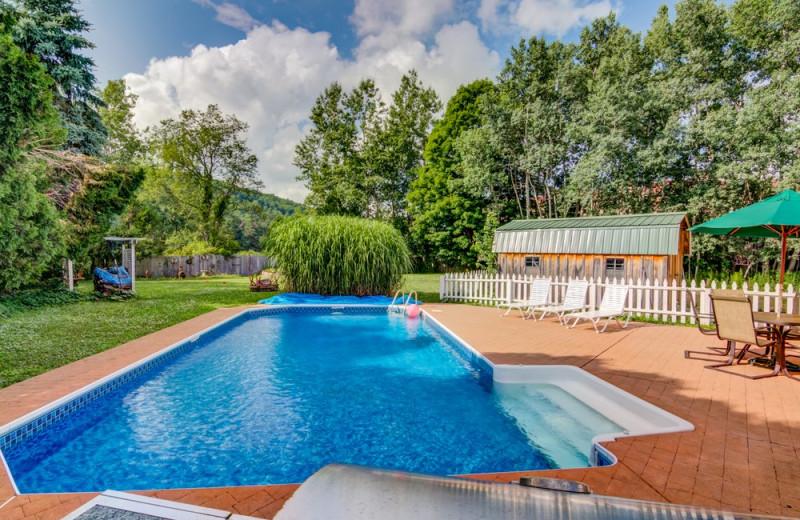 Outdoor pool at  Ilex Inn.