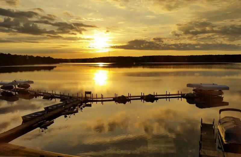 Sunset at Cragun's Resort and Hotel on Gull Lake.