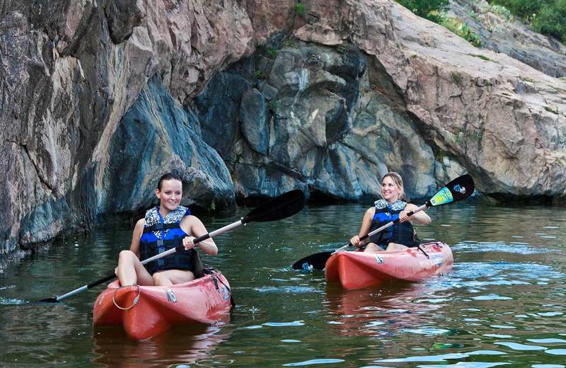Kayaking at Inks Lake State Park.