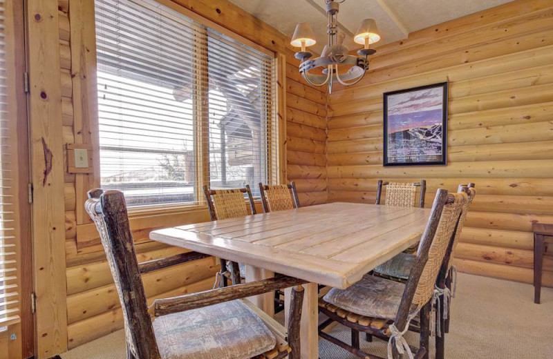 Rental dining room at Alpine Ski Properties.