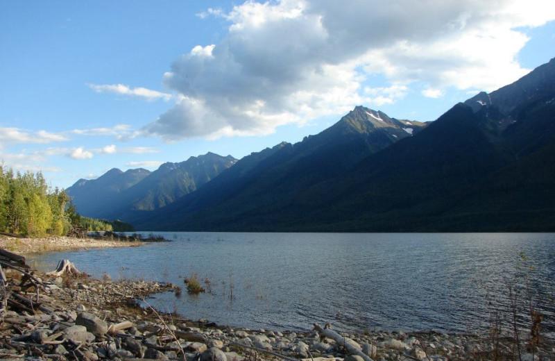 Beautiful Kinbasket Lake near Mica Mountain Lodge & Log Cabins.