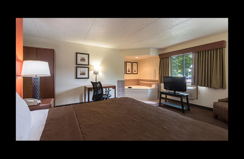 Guest room at AmericInn Lodge & Waterpark.