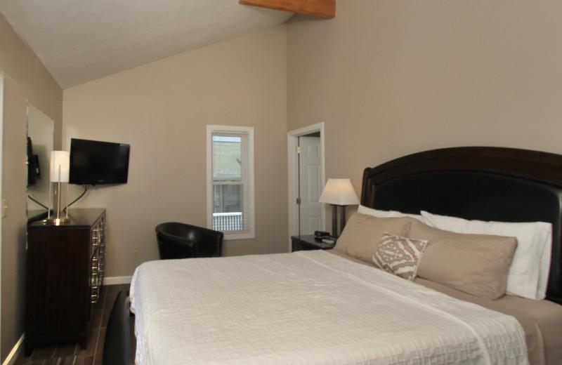 Guest bedroom at Ocean Walk Hotel.